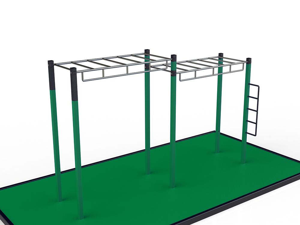 Monkey bars chelle horizontale pour entra nement for Echelle exterieur