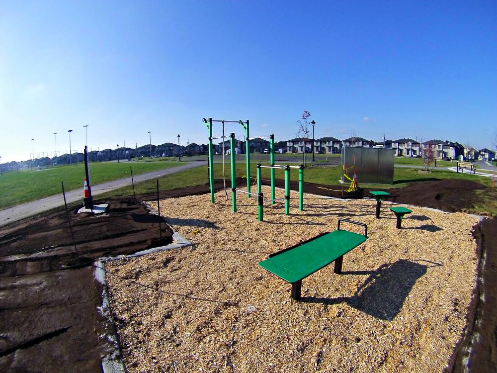 amenagement parc entrainement urbain Urban Workout   Chambly