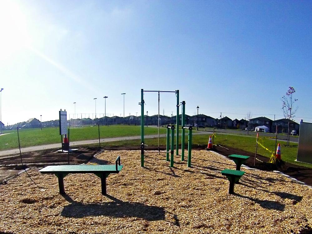 ville en santé aménagement parc atlasbarz Urban Workout   Chambly