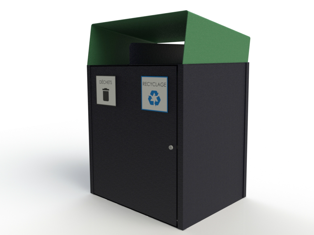 Collecteur extérieur modulaire 2 fonctions atlasbarz 2018 Waste collector   Multifunctional station (waste   recycling   compost   returnable)