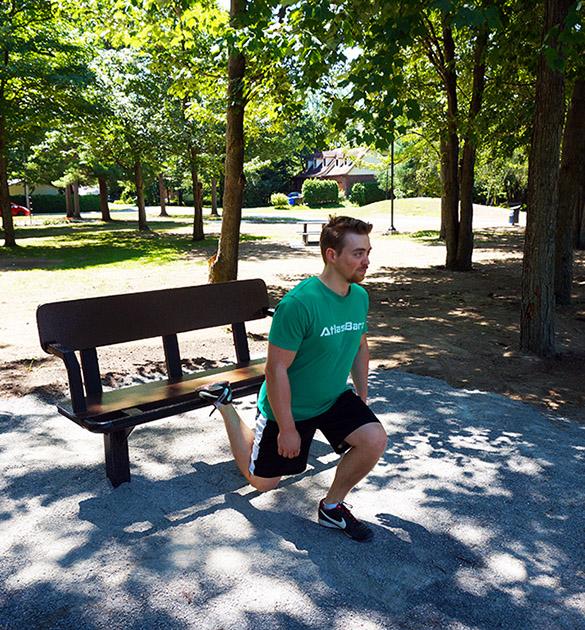 Exercice pour jambes avec banc Réalisations