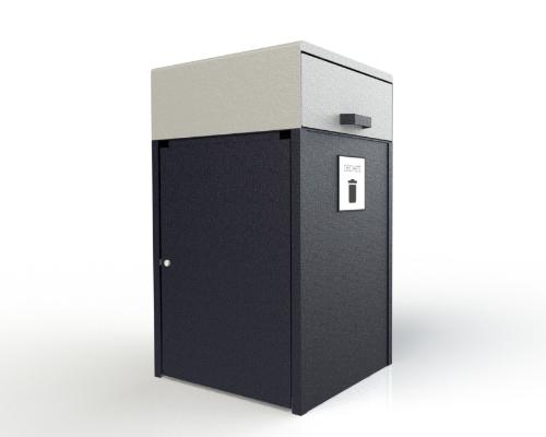 Poubelle avec porte fermer 500x400 Mobilier urbain