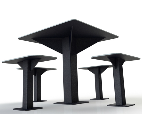 table carré grise atlasbarz 500x400 Urban Furniture
