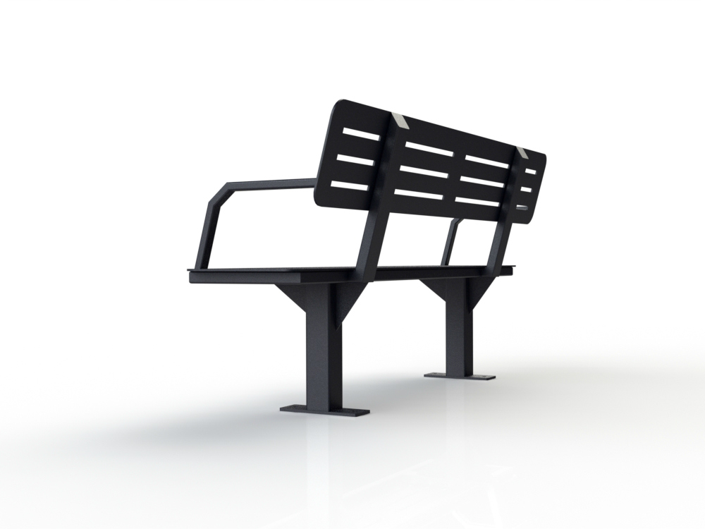 banc all black triangle 1000x750 banc urbain atlasbarz 2 Banc avec dossier   ABZBENCH 02