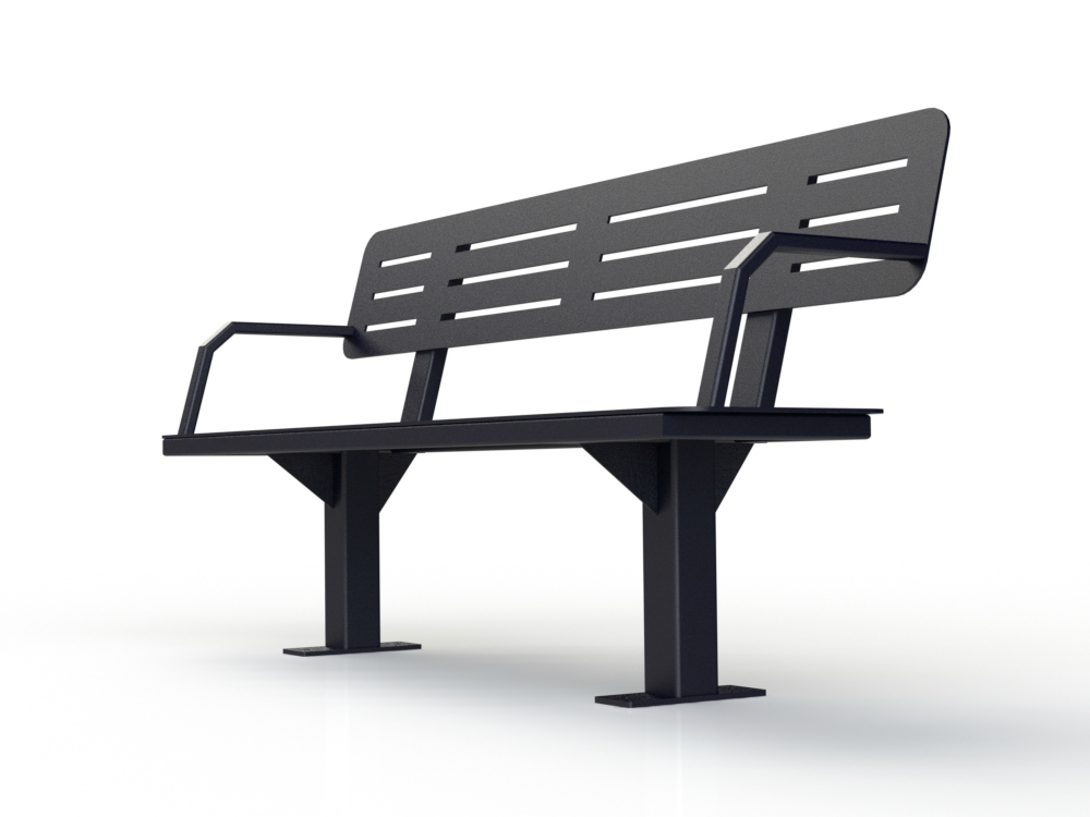 banc all black triangle 1000x750 banc urbain atlasbarz Banc avec dossier   ABZBENCH 02