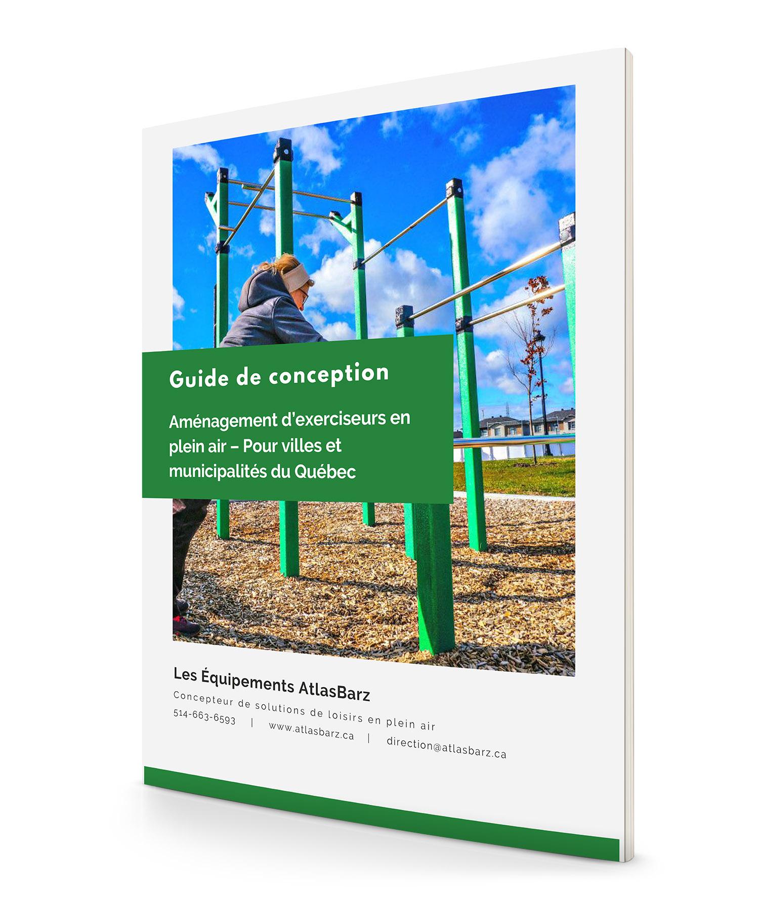 Page Couverture Guide de conception Aménagement exerciseurs en plein air Pour villes et municipalités du Québec Guide de conception   Aménagement d'exerciseurs en plein air