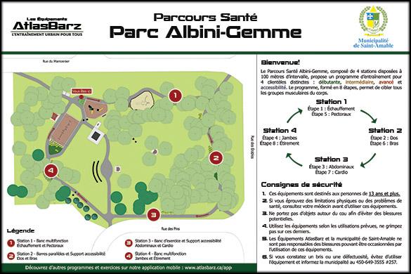Panneau Bienvenue Parcours Sante AtlasBarz Saint Amable Infographie pour villes et municipalités