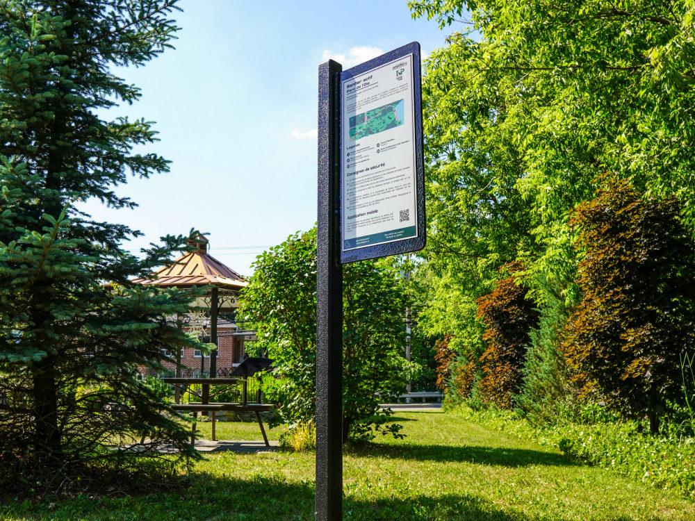 panneau bienvenue atlasbarz roxton pond sentier actif Parcours actif   Roxton Pond