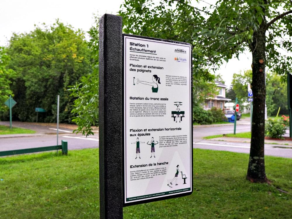 panneau exercice ville atlasbarz 1000x750 2 Outdoor fitness trail, Dégelis